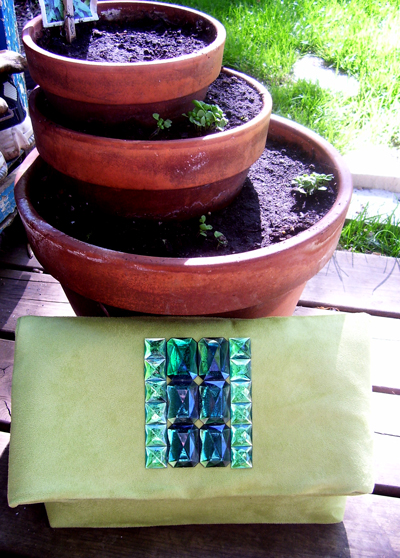 Emerald City Clutch by Fashionjenn Handbags